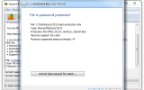 Accent EXCEL Password Recovery screenshot